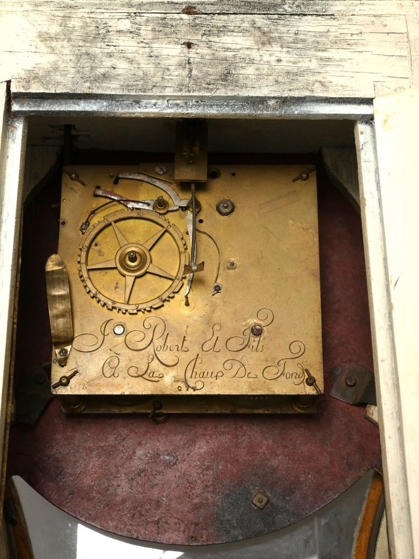 RARE JOSUE ROBERT BRACKET CLOCK AND BRACKET - 6