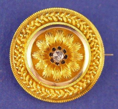 1022: EDWARDIAN DIAMOND BROOCH
