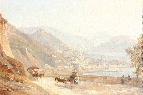 1026: GOTZLOFF CAPRI ITALY PAINTING