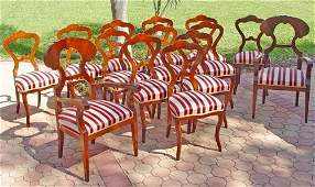 1048: SET OF 14 FINE MAHOGANY DINING CHAIRS