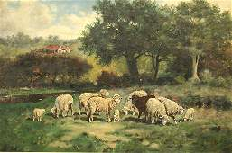 1320 IMPRESSIONIST PAINTING OF SHEEP