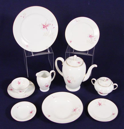 1326: ROSENTHAL ORCHID  CHINA    93 Pc   Service for 12