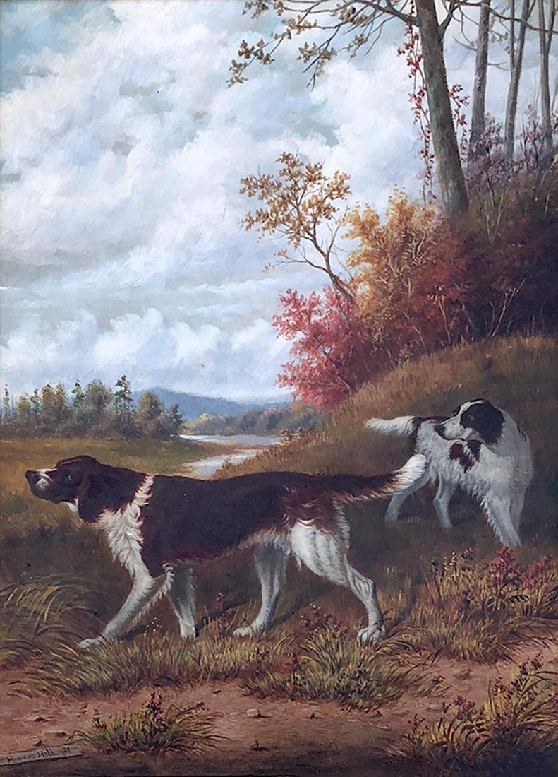 HOWARD HILL HUNTING DOGS PAINTING