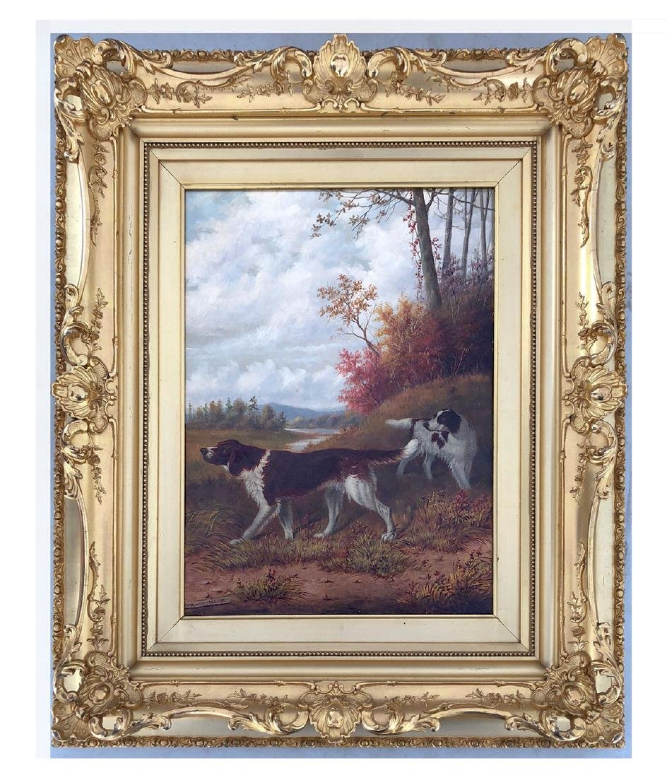 HOWARD HILL HUNTING DOGS PAINTING - 2