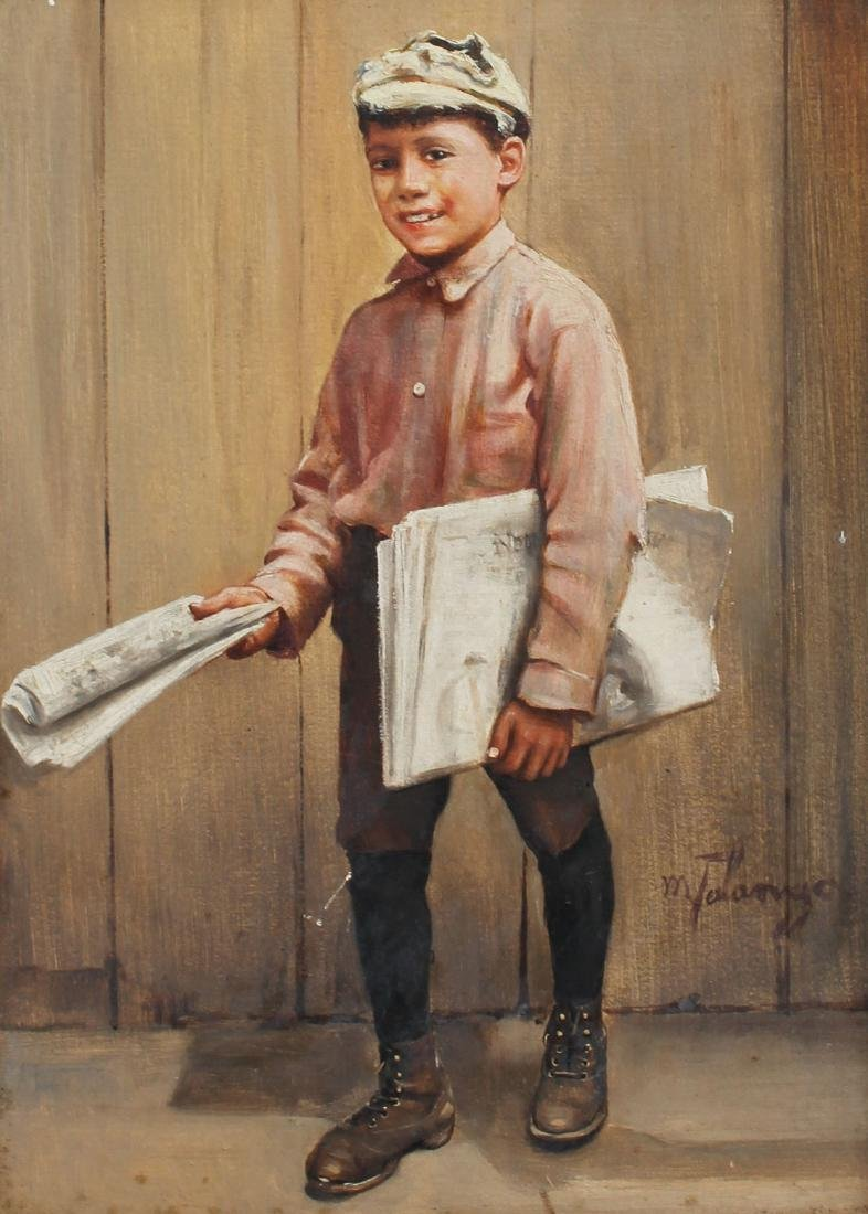 MICHELE FALANGA PAPER BOY PAINTING