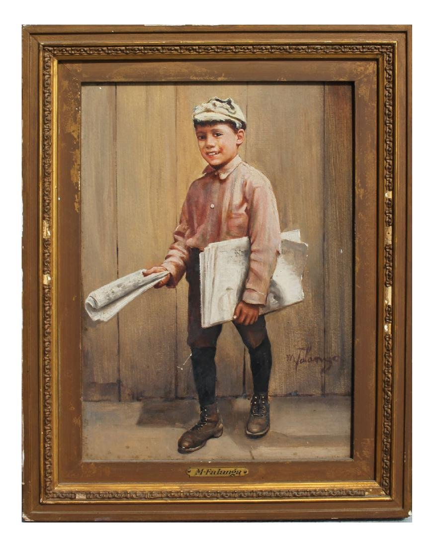 MICHELE FALANGA PAPER BOY PAINTING - 2