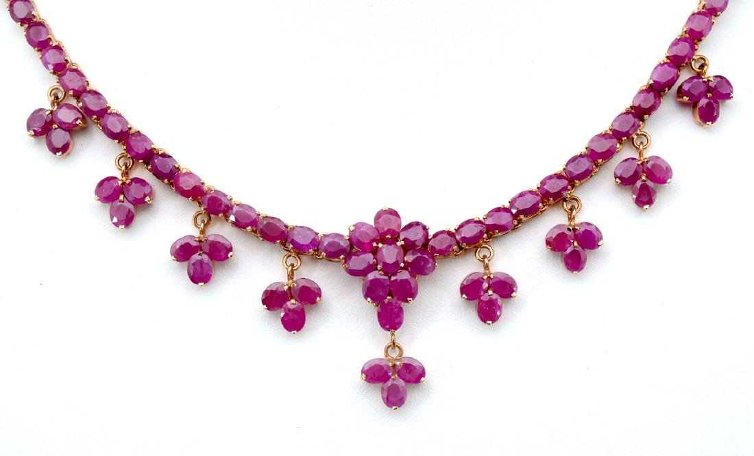 RUBY NECKLACE, BRACELET AND RING - 3