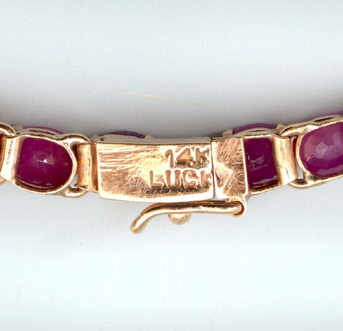 RUBY NECKLACE, BRACELET AND RING - 4