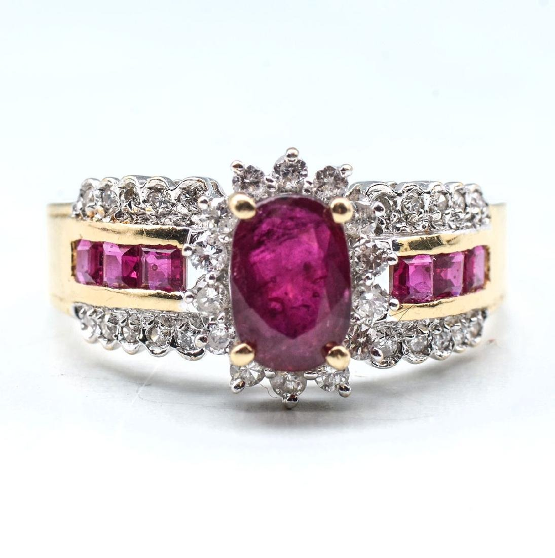 RUBY NECKLACE, BRACELET AND RING - 5