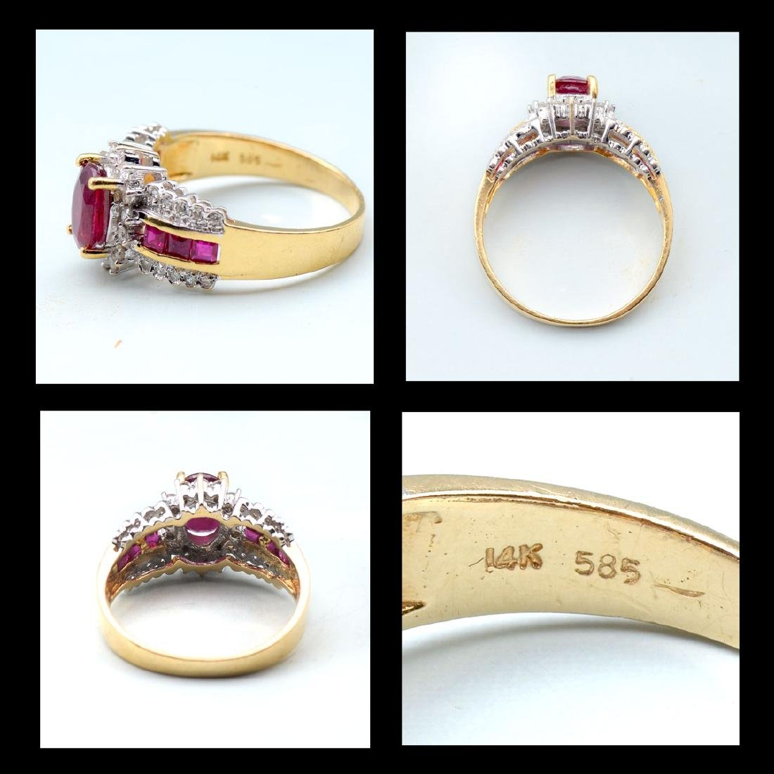RUBY NECKLACE, BRACELET AND RING - 6