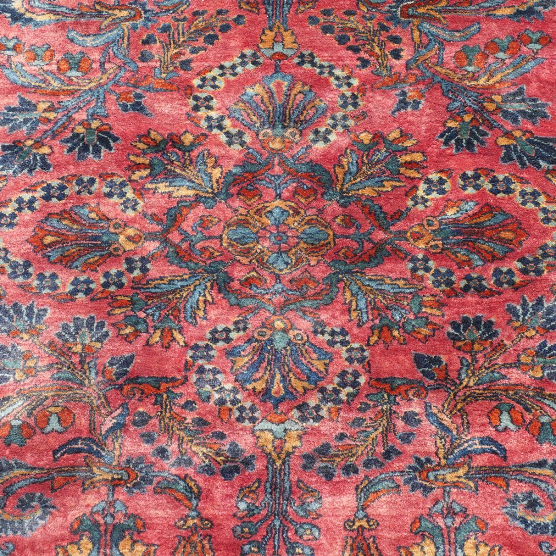 "SEMI-ANTIQUE PERSIAN FINELY HK WOOL RUG, 5'4"" X 6' - 2"
