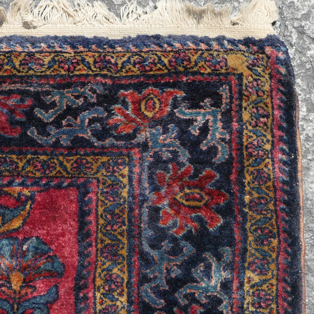"SEMI-ANTIQUE PERSIAN FINELY HK WOOL RUG, 5'4"" X 6' - 3"