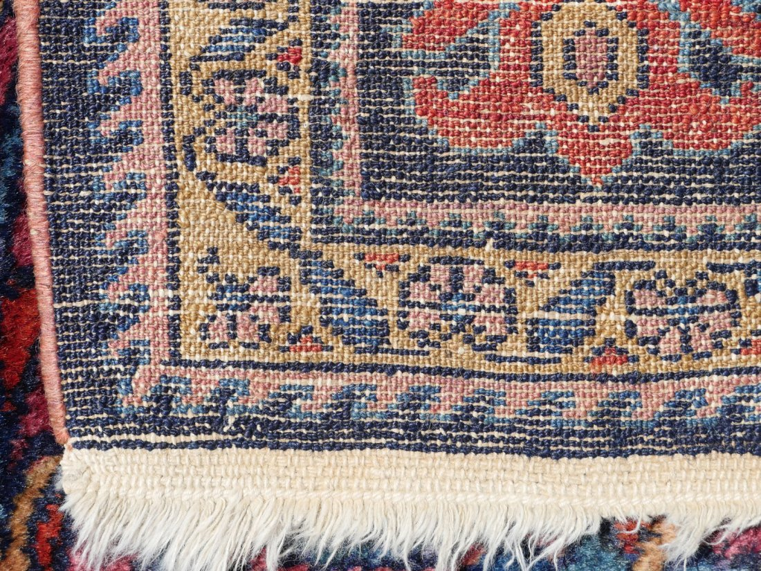 "SEMI-ANTIQUE PERSIAN FINELY HK WOOL RUG, 5'4"" X 6' - 4"