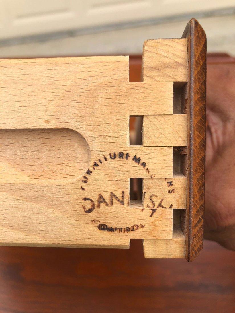 DANISH MODERN TEAK LIBRARY DESK - 4