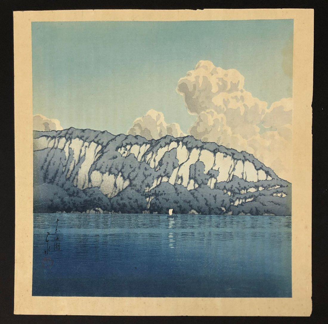 KAWASE HASUI WOODBLOCK TOWADA LAKE