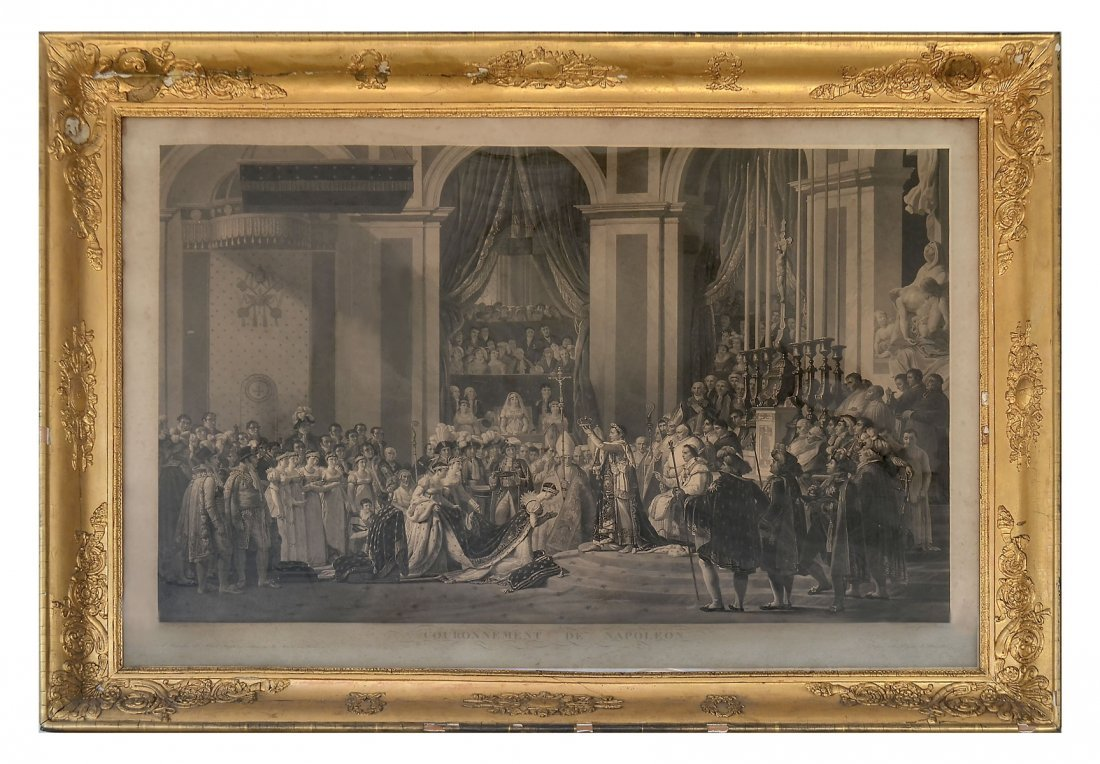 LARGE PERIOD ENGRAVING OF THE CORONATION OF NAPOLE - 2