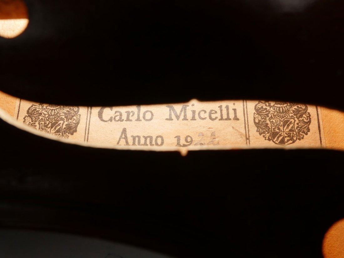 1922 CARLO MICELLI VIOLIN & 2 BOWS - 7