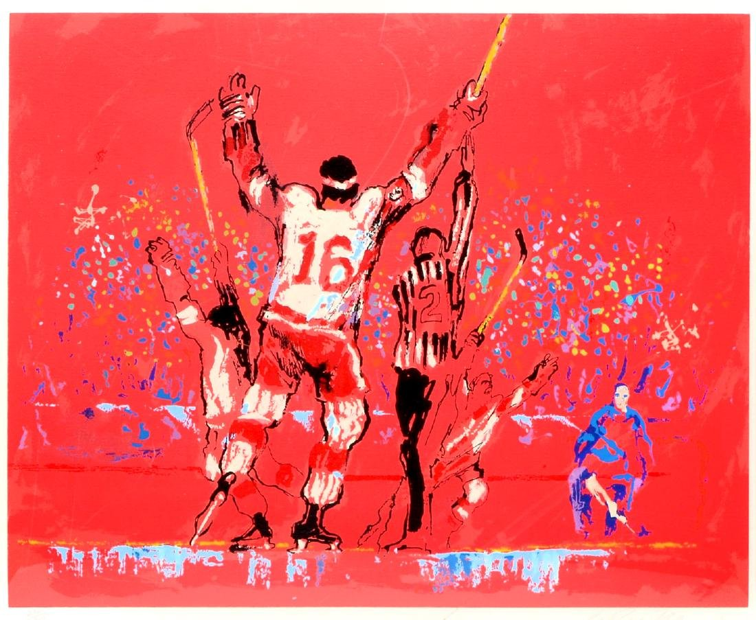 "LEROY NEIMAN SERIGRAPH ""RED GOAL"""