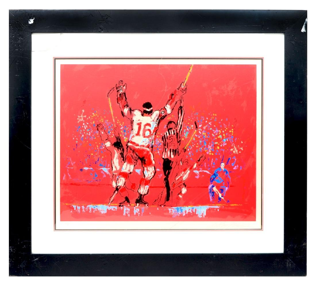 "LEROY NEIMAN SERIGRAPH ""RED GOAL"" - 3"