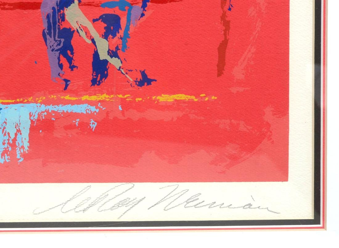 "LEROY NEIMAN SERIGRAPH ""RED GOAL"" - 4"