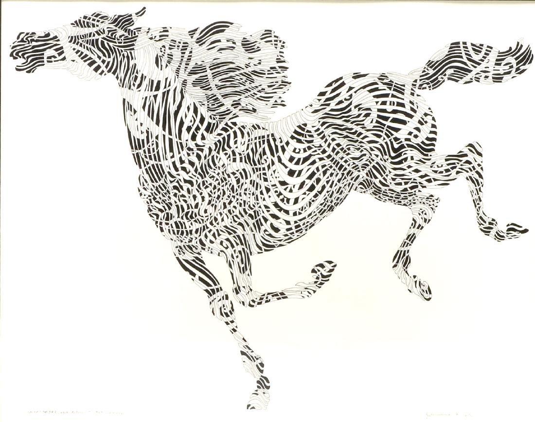 AZOULAY GALLOP CAMBRE ORIGINAL PEN AND INK