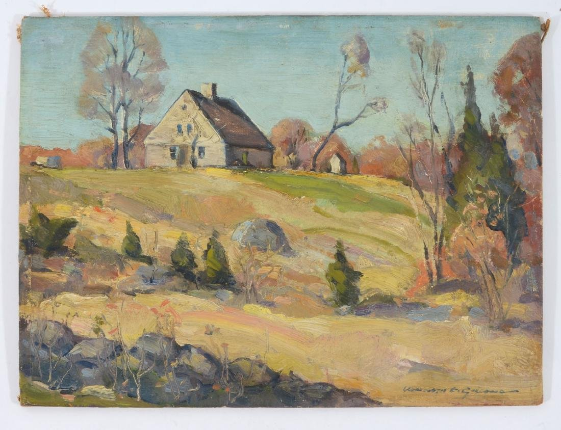 "EXHIBITED KENNETH E.GREEN PAINTING ""ACADIAN HOUSE"""