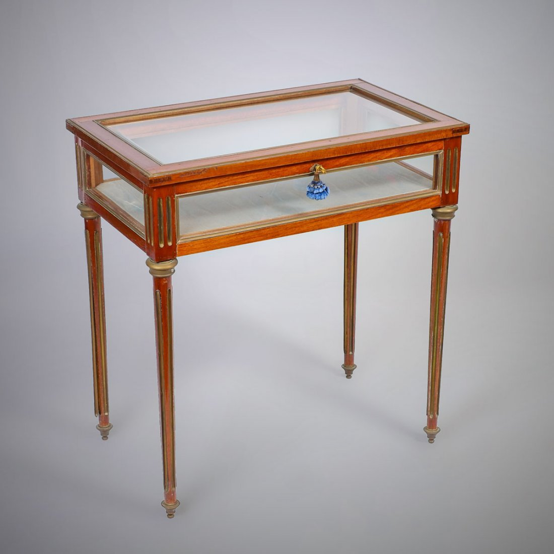 FRENCH EMPIRE STYLE LIFT-TOP VITRINE