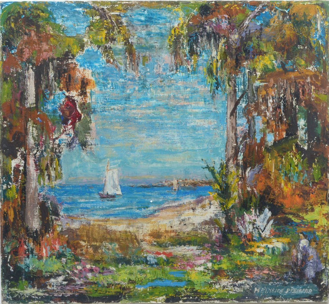 HEINRICH PFEIFFER ST JOHNS RIVER PAINTING