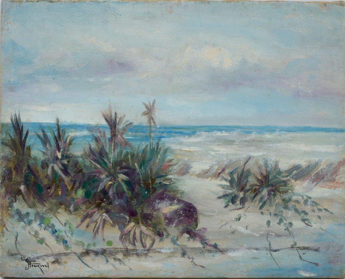 FINE CATHERINE STOCKWELL FLORIDA BEACH PAINTING