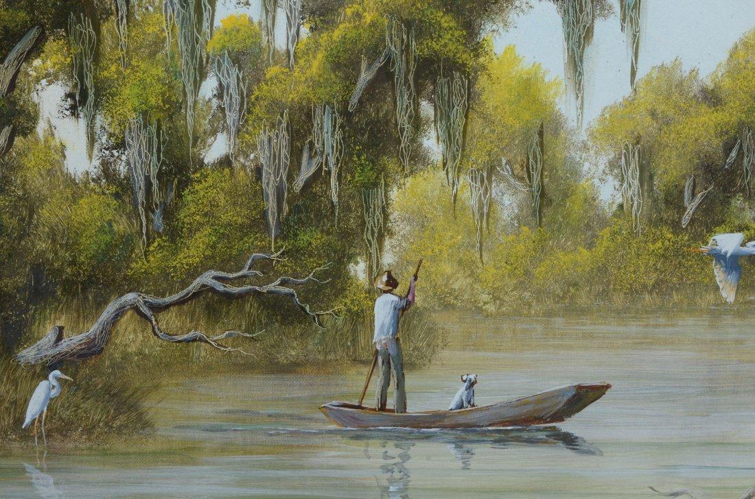JOE GIBBS FLORIDA RIVER PAINTING - 3