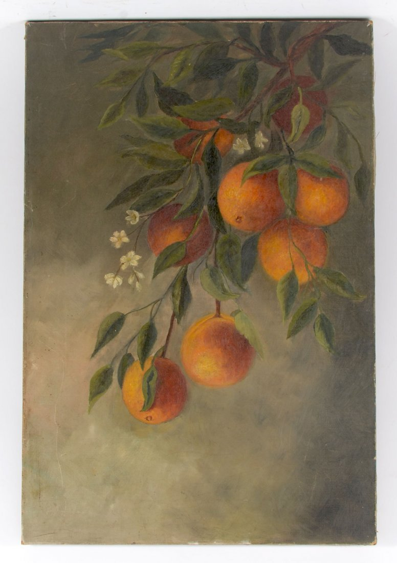 TURN OF THE CENTURY STUDY OF ORANGES PAINTING