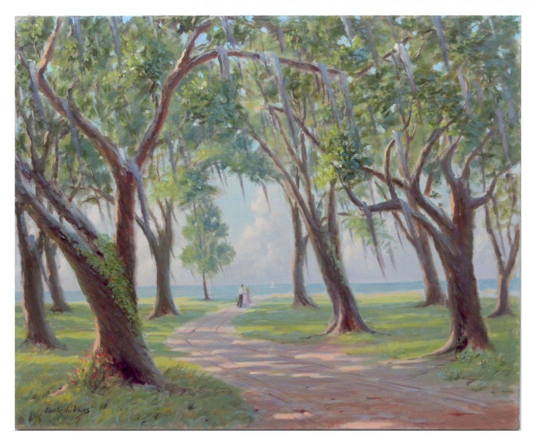 """EARLE DE VRIES PAINTING """"SUNLIGHT AND SHADOWS"""""""