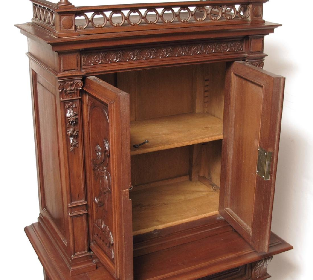 CARVED CABINET ON STAND - 2