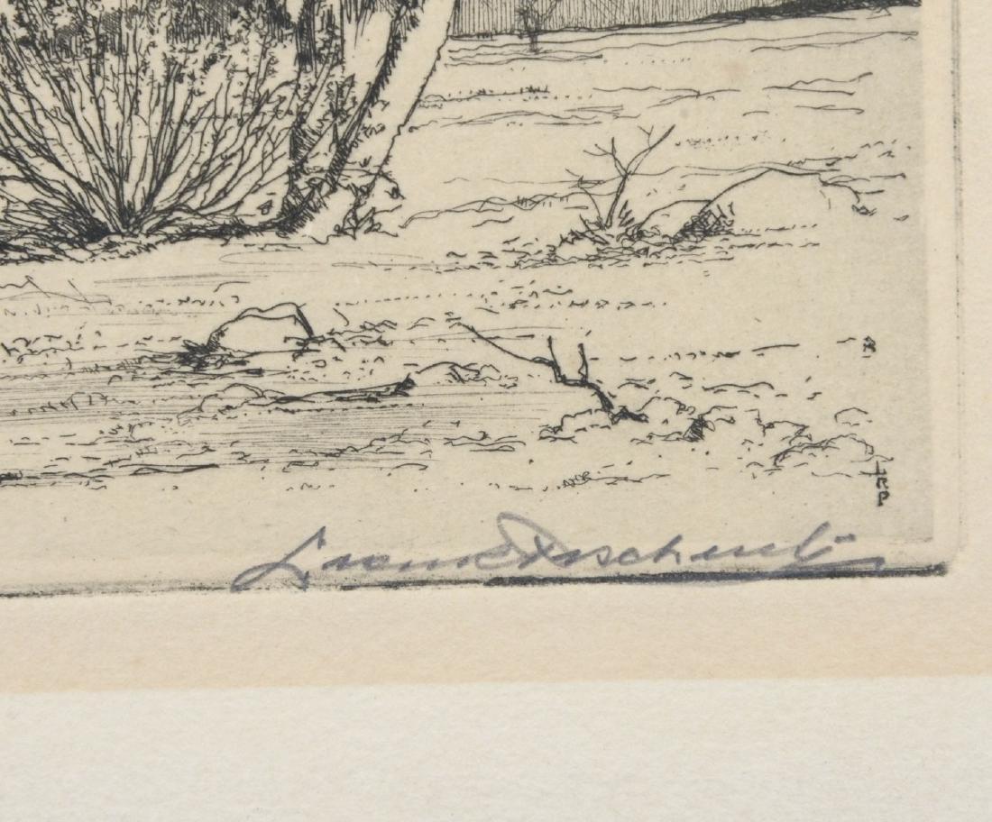 LEON PESCHERET ETCHING ''JOSHUA TREES, ARIZONA'' - 2