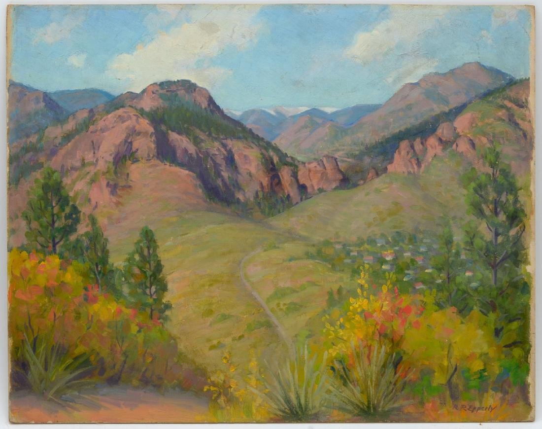 R. R. EPPERLY PAINTING CHEYENNE CANYON