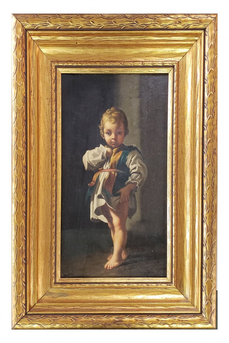 ITALIAN PORTRAIT PAINTING OF YOUNG CHILD