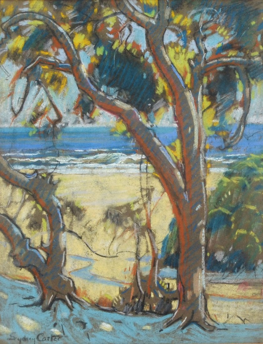 SYDNEY CARTER PASTEL BEACH SCENE