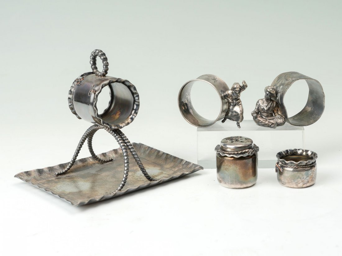 5 PC. FIGURAL NAPKIN RINGS