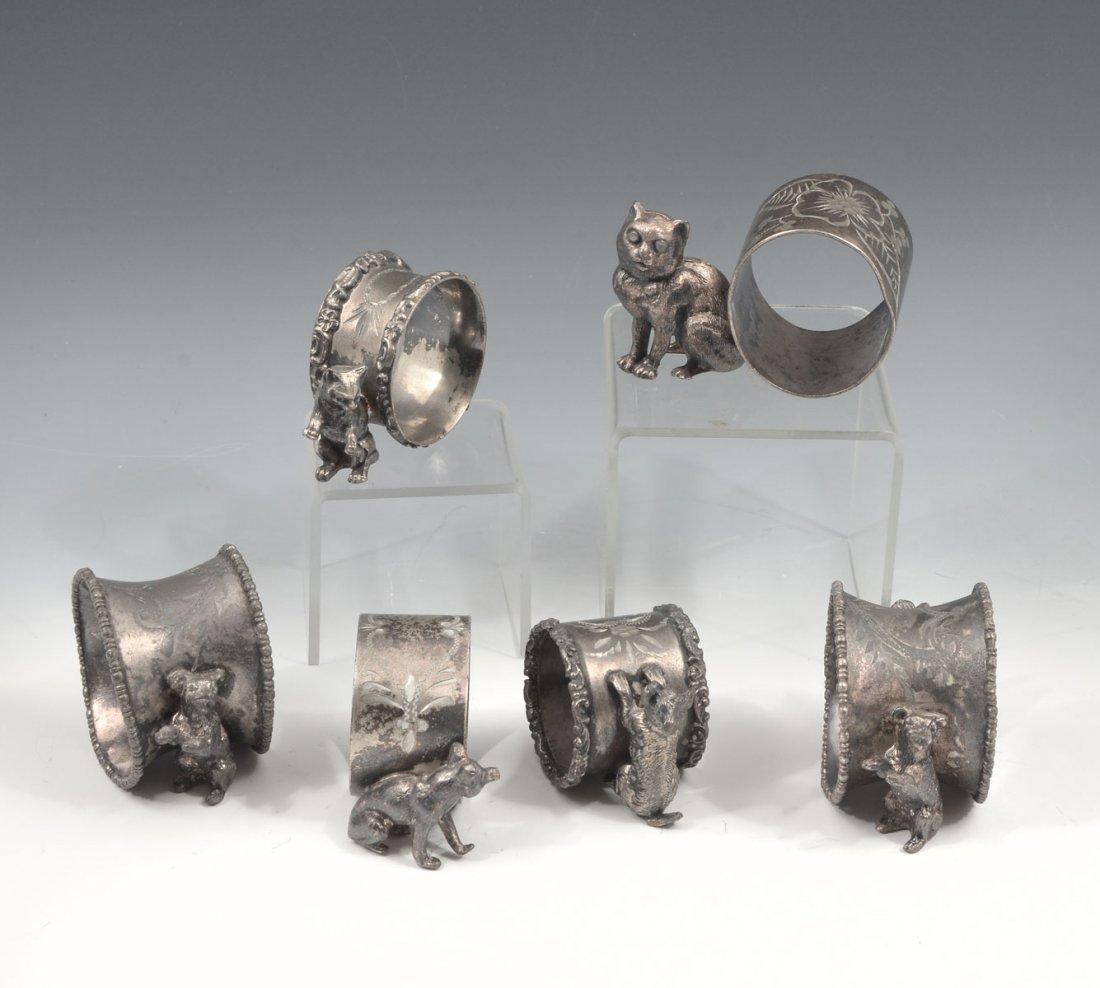 6 PC. FIGURAL NAPKIN RINGS