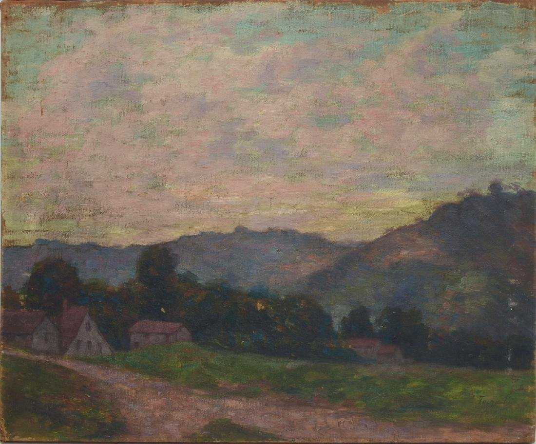 TURN OF THE CENTURY IMPRESSIONIST LANDSCAPE PAINTING