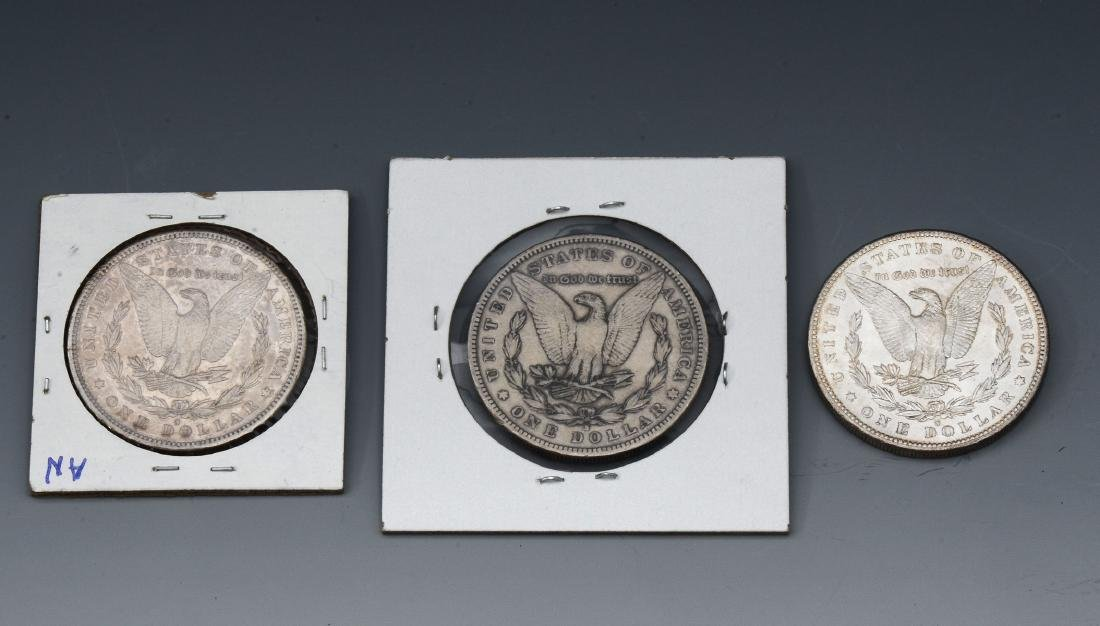3 PC. MORGAN SILVER DOLLARS - 2