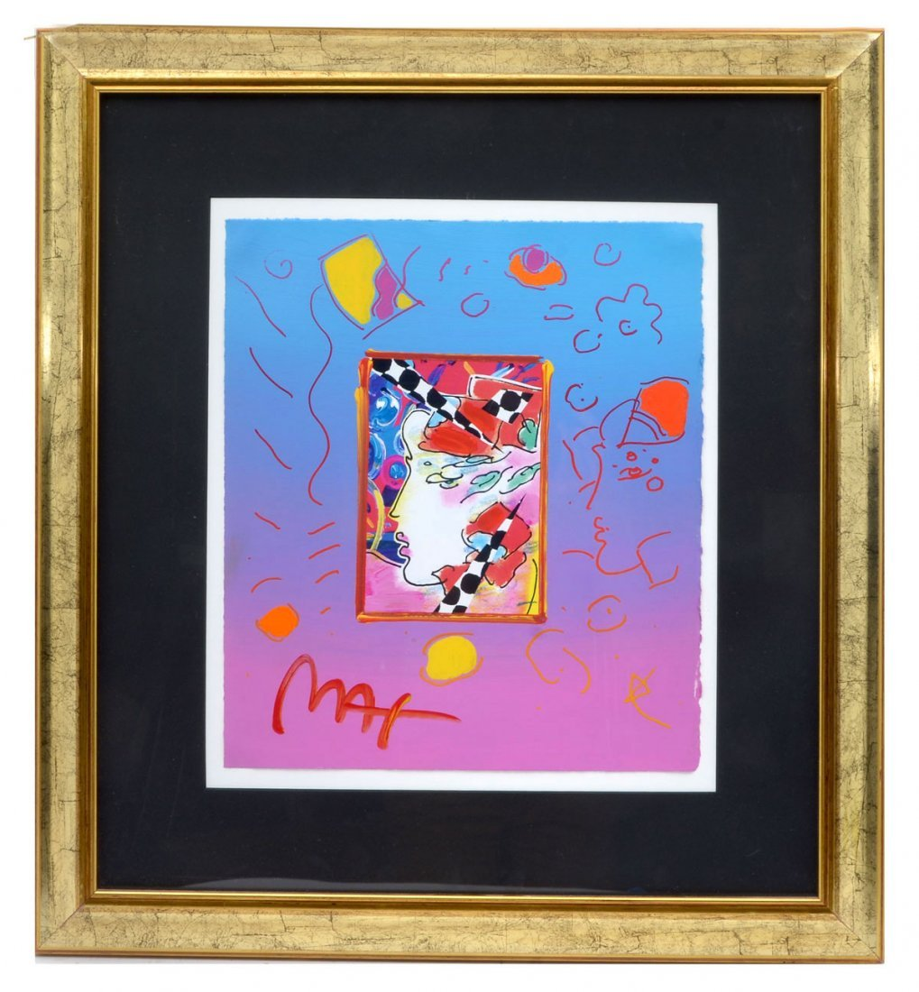 PETER MAX MIXED MEDIA ON PAPER - 2