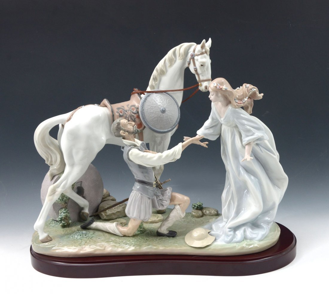 "LLADRO ""CONQUERED BY LOVE"" FIGURINE"