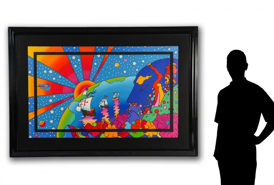 "LARGE PETER MAX SERIGRAPH ""DISCOVERY"""