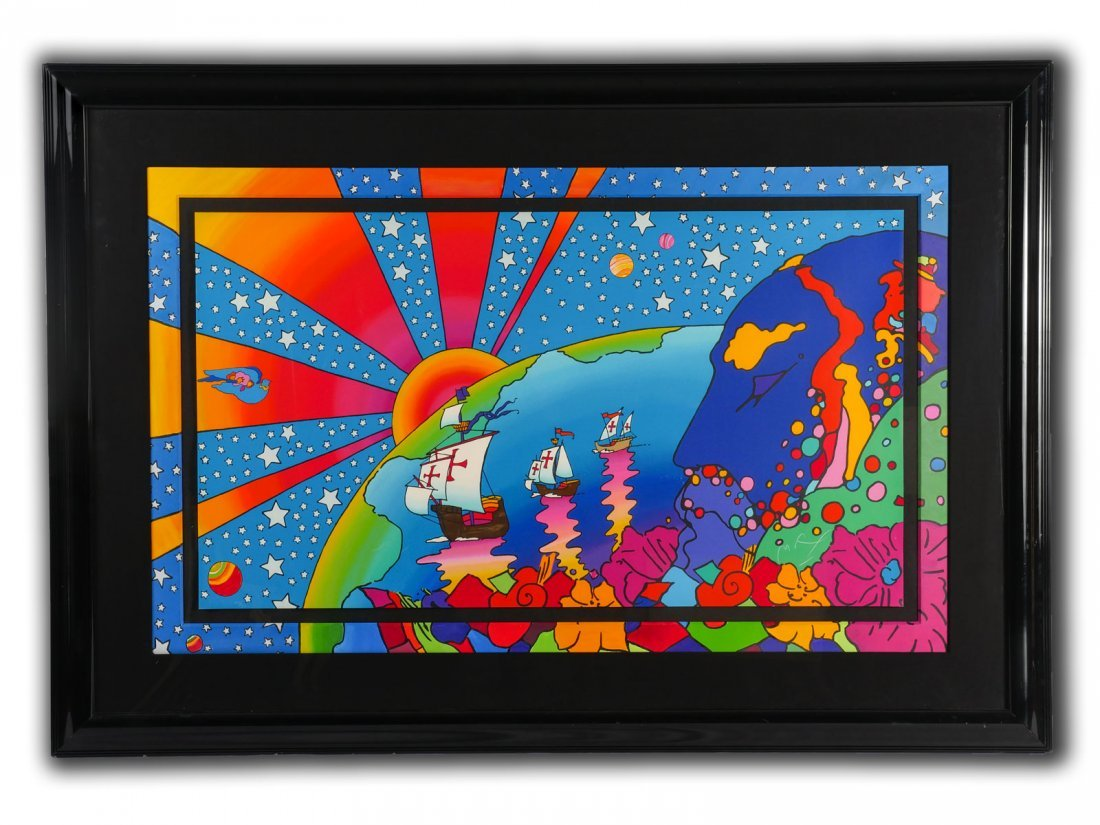 "LARGE PETER MAX SERIGRAPH ""DISCOVERY"" - 2"
