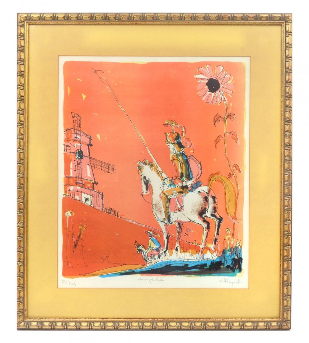 TWO HOLLINGSWORTH LITHOGRAPHS - 2