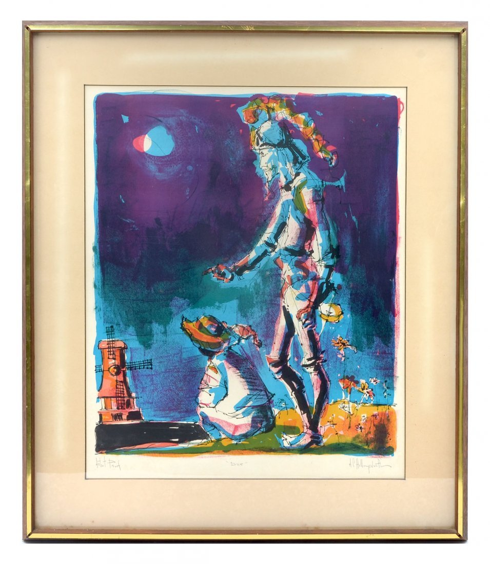 TWO HOLLINGSWORTH LITHOGRAPHS - 3