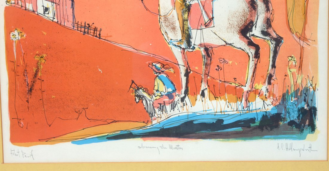 TWO HOLLINGSWORTH LITHOGRAPHS - 4