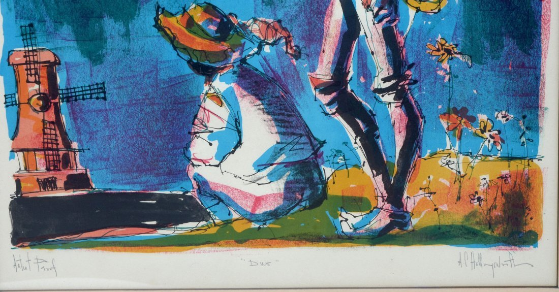 TWO HOLLINGSWORTH LITHOGRAPHS - 5