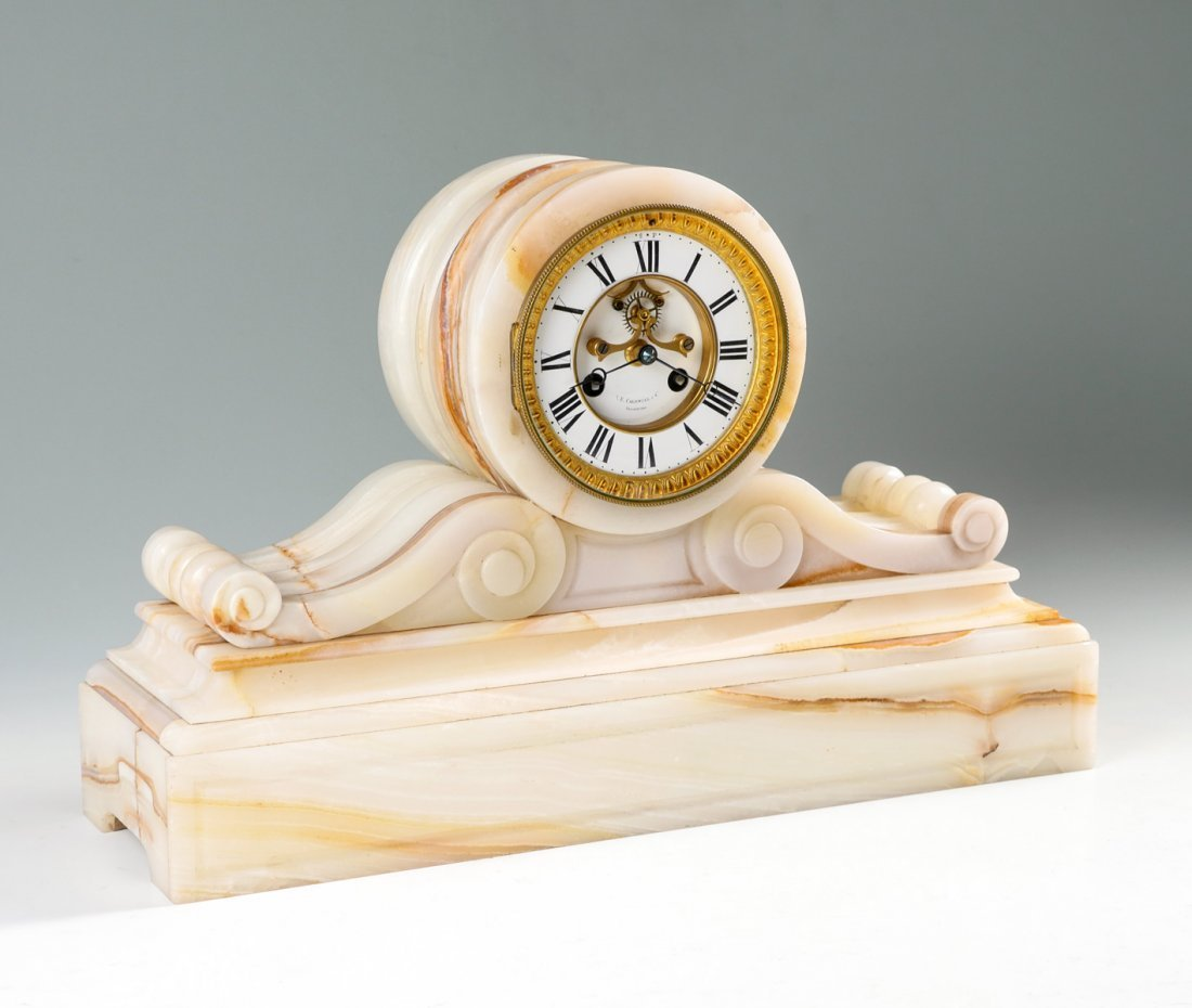 J. E. CALDWELL ONYX MANTLE CLOCK
